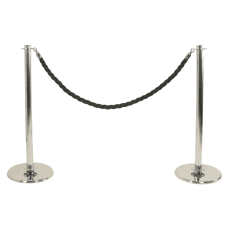 Chrome Post & Rope Barrier Kit