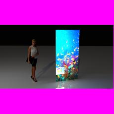Medium Portable Lightbox Display Wall