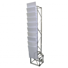 Arena gantry literature holder