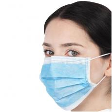 Pack 50 Type II R Non Woven 3 ply Disposable Face Masks