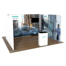 One Open Side 3m x 4m Fabric Display Stand