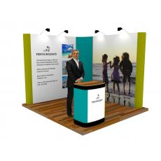 2 x 2 L Shaped Pop Up Exhibition Stand