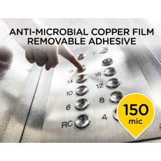 Anti-Microbial Copper Film with Removable Adhesive
