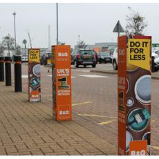 Printed Bollard Covers 4 sides