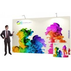 3 x 5 Premium Pop Up Display Bundle