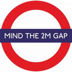 Floor Stickers for Social Distancing - Mind the 2m Gap