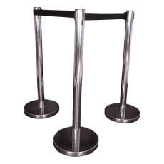 Chrome Retractable Belt Barrier