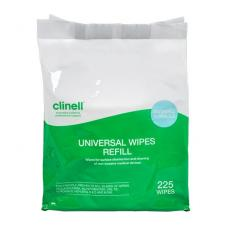 Bucket Refill Pack Clinell Universal Wipes 225