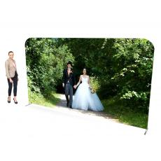 4m Straight Fabric Display Stand