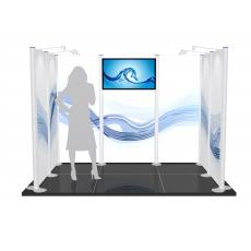 3m x 2m Centro Modular Exhibition Stand with AV