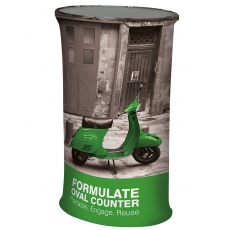 Formulate Oval Tension Fabric Counter