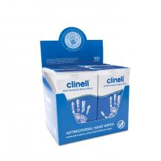 Individually Wrapped Clinell Antibacterial Hand Wipes