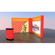 3m x 3m L Shaped Pop Up Exhibition Stand