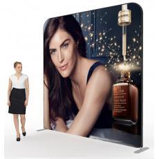3m x 3m Straight Fabric Display Stand