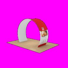Stretch Fabric Archway Display