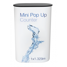 1 x 3 Mini Pop Up Counter