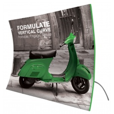 Formulate Vertical Curve Fabric Exhibition Stand 6.1m