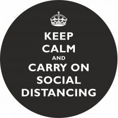 Floor Stickers for Social Distancing - Keep Calm