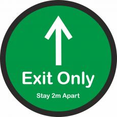 Floor Stickers for Social Distancing - Exit Only