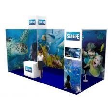6x3 Modular Exhibition Stand with Arch and Store