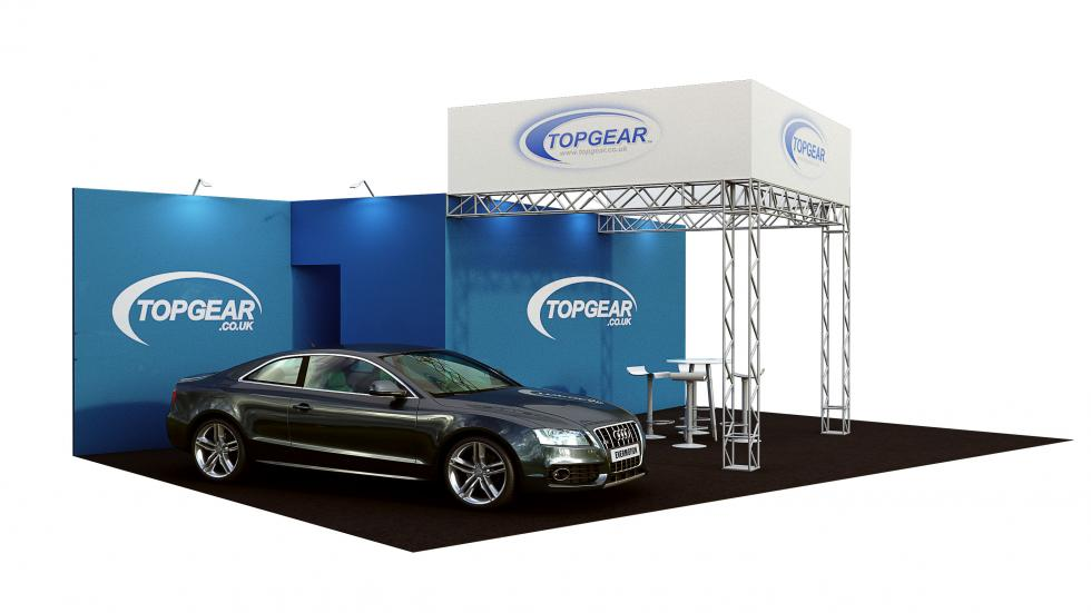 Top Gear gantry exhibition stand