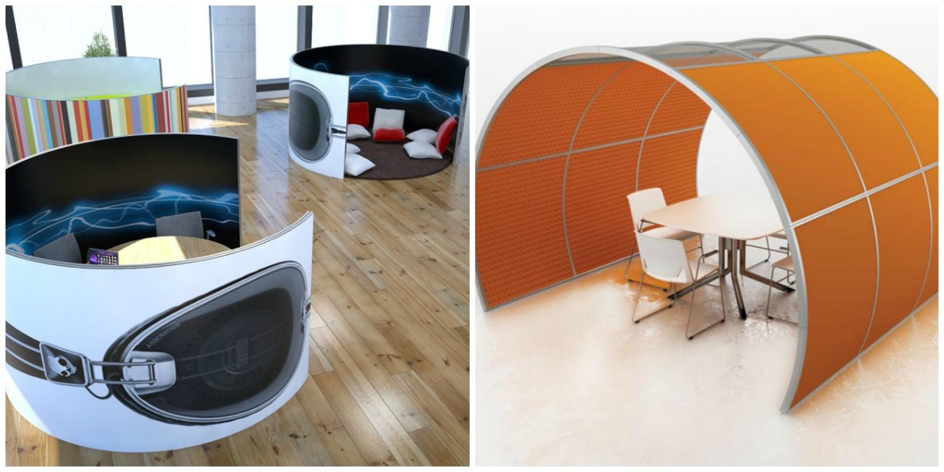Marketing Exhibition Stand Hire : Consultation booths meeting pods office