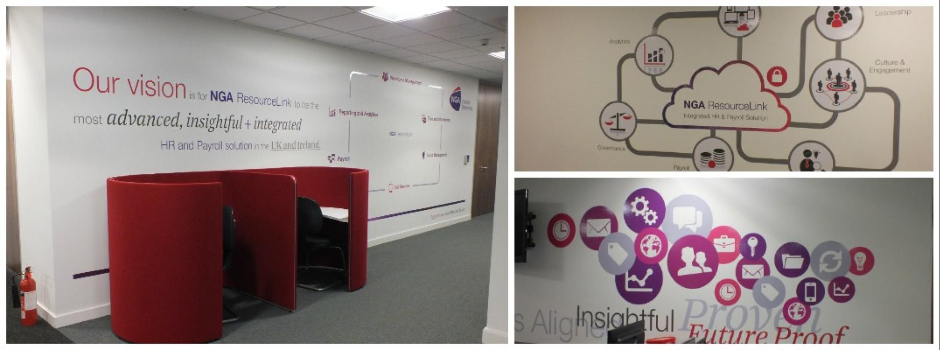 NGA HR wall display graphics