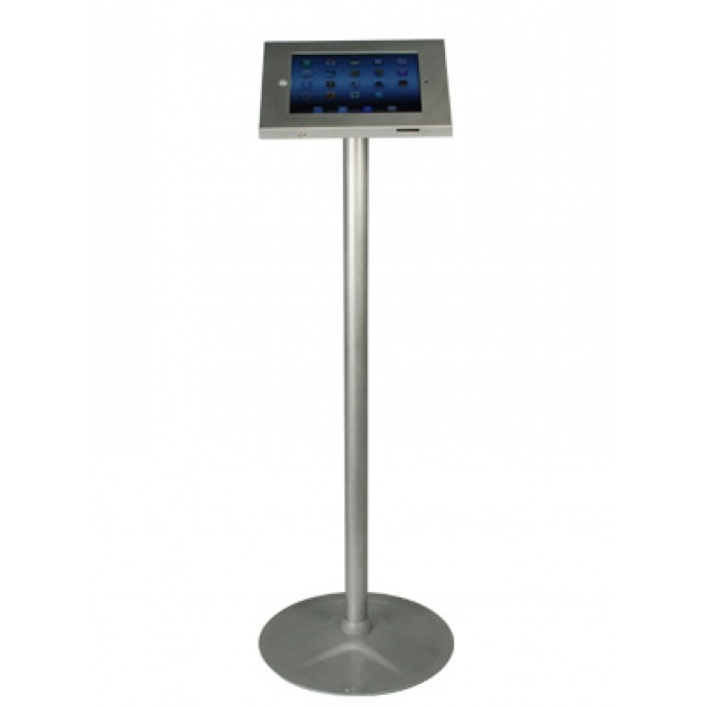Silver Floor Standing iPad Holder
