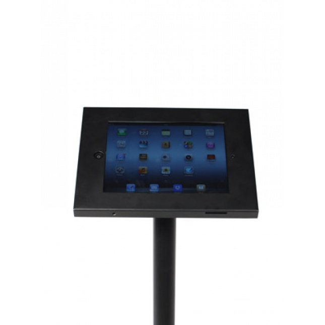 Close up Black Floor Standing iPad Holder