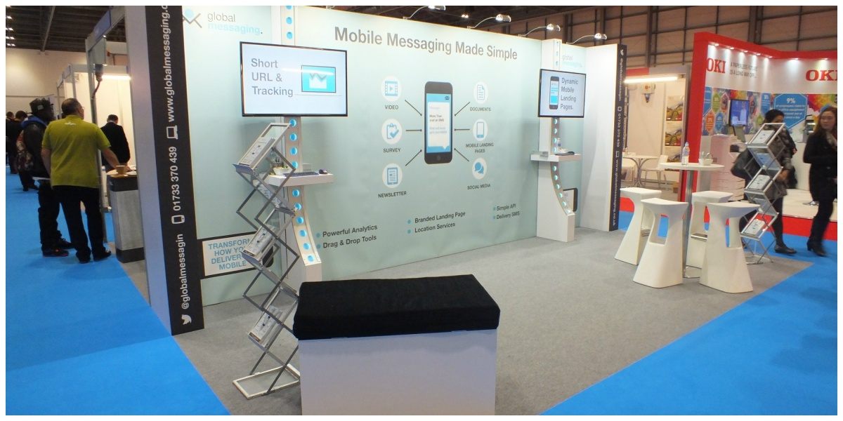 Bespoke exhibition stand at marketing week live