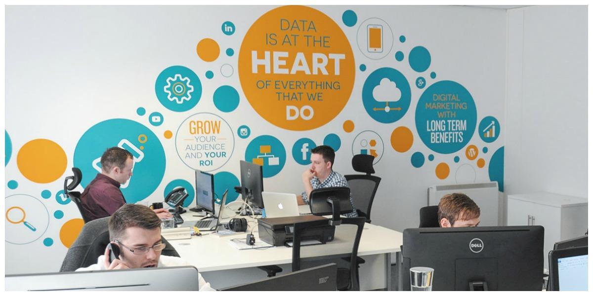 Datify office branding wall decals