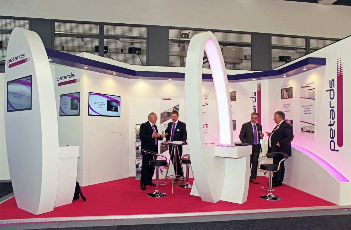 Petards Joyce Loebl Ltd exhibition stand