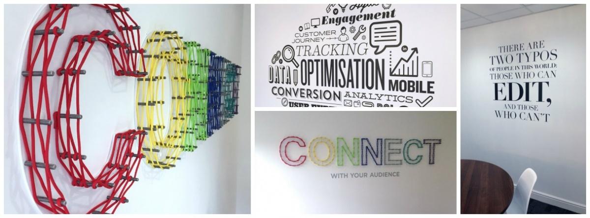 Media Matters custom display and wall graphics
