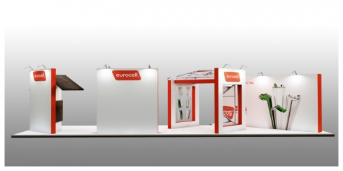 Eurocell custom exhibition stand for the fit show