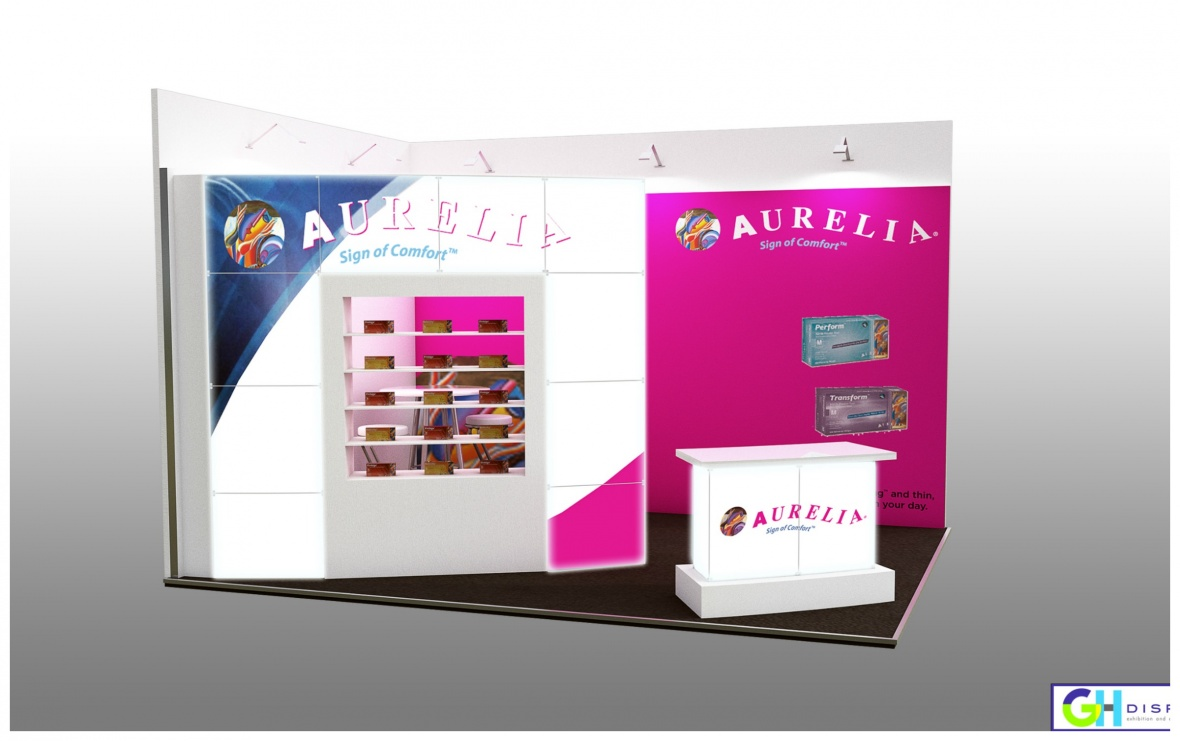 Supermax Healthcare UK custom exhibition stand design