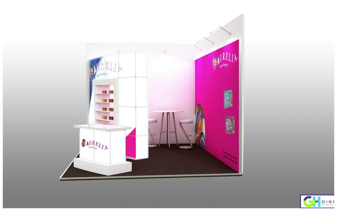 Supermax Healthcare UK custom exhibition stand