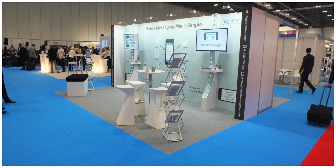 Global messaging exhibition stand
