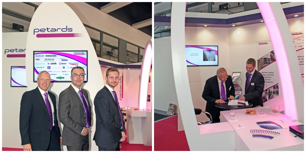 Petards exhibition stand hire at InnoTrans