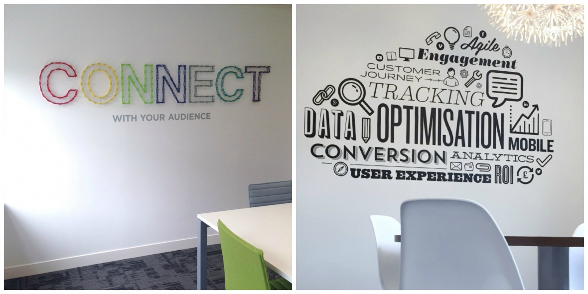 Media Matters custom display and wall graphics