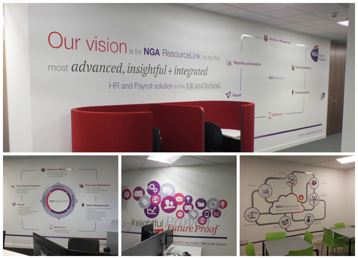 NGA HR office branding interior