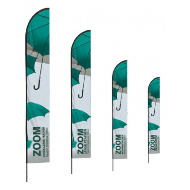 Zoom Feather Flag all sizes
