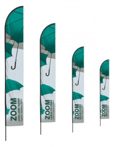 Zoom Feather Flag