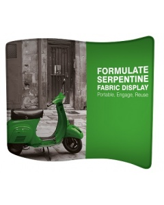 Formulate Serpentine Fabric Exhibition Stand 3m