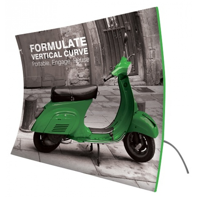 Formulate Vertical Curve Fabric Display