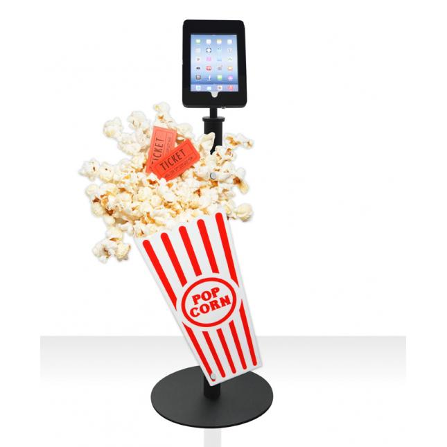 Techno Deluxe Plus iPad Stand with rigid graphic popcorn