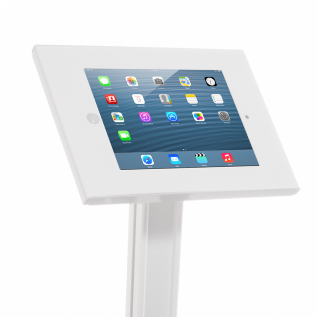 ipad stand without literature holders ipad stand with literature units - Ipad Floor Stand