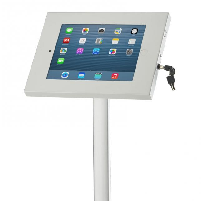White Telescopic iPad Stand screen view