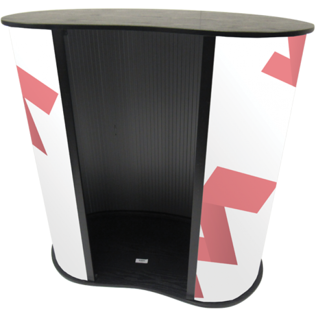 Promotional Curved Counter Rear View