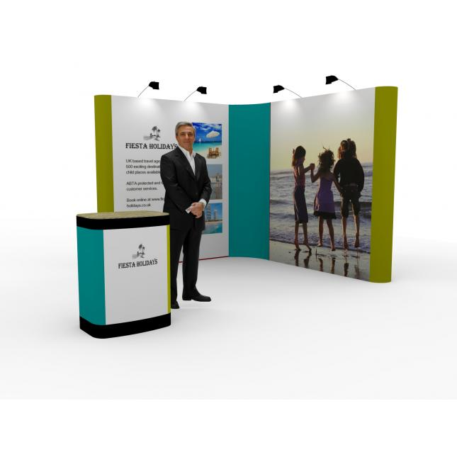 2x2 L Shaped Pop Up Exhibition Stand