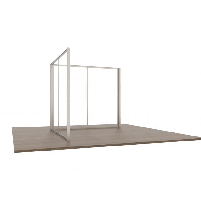3x3 Modular Exhibition Stand two open sides frame